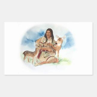 Adesivo Retangular O clã dos cervos sere de mãe com suas jovens