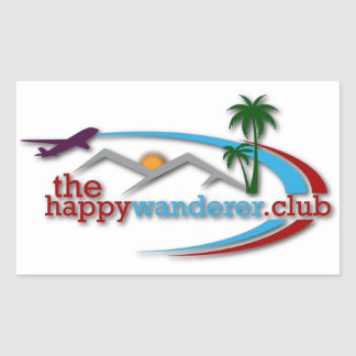 Adesivo Retangular O clube feliz do andarilho