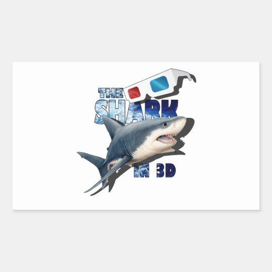 Adesivo Retangular O filme do tubarão