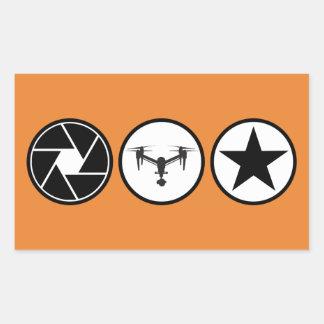 Adesivo Retangular O fotógrafo aéreo DJI inspira