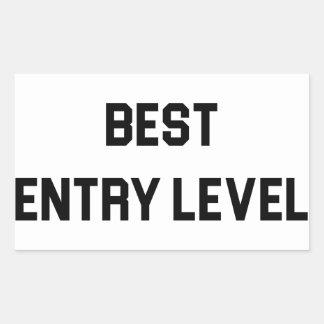Adesivo Retangular O melhor empregado do nível básico