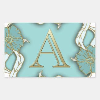 Adesivo Retangular O melhor fundo do monograma da inicial da letra do