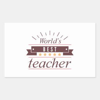 Adesivo Retangular O melhor professor do mundo