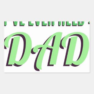 Adesivo Retangular O melhor título que eu guardarei nunca é pai