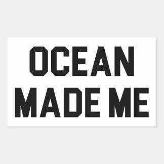 Adesivo Retangular O oceano fez-me salgado
