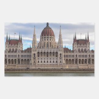 Adesivo Retangular O parlamento húngaro Budapest em o dia