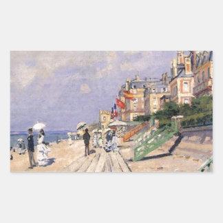 Adesivo Retangular O passeio à beira mar em Trouville Claude Monet