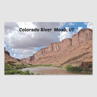 Adesivo Retangular O Rio Colorado, Moab, UT