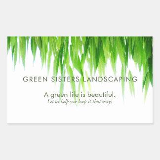 Adesivo Retangular O verde deixa a terra o design amigável