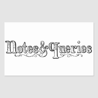 Adesivo Retangular O vintage nota e pergunta Typograph