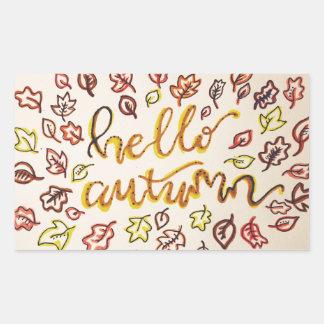 Adesivo Retangular Olá! outono