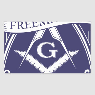 Adesivo Retangular Olho devista de Illuninati do Freemason