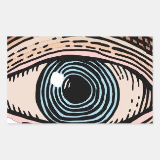 Adesivo Retangular Olho do providência (transparente)