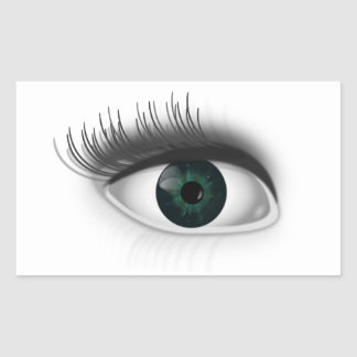 Adesivo Retangular Olho verde