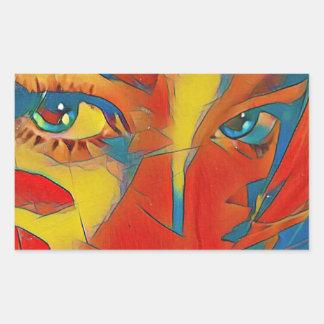 Adesivo Retangular Olhos artísticos contemporâneos raros legal