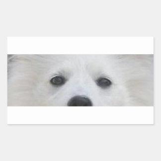 Adesivo Retangular Olhos de American_Eskimo_Dog