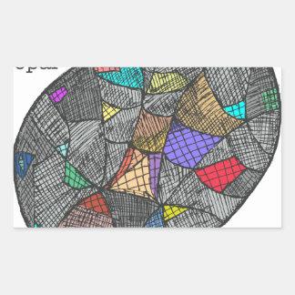 Adesivo Retangular Opal preto