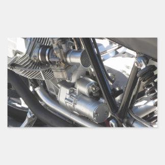 Adesivo Retangular Opinião lateral cromada motocicleta do detalhe do