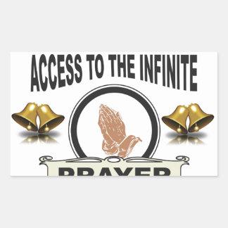 Adesivo Retangular oração infinita do acesso