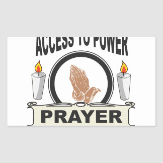 Adesivo Retangular oração o acesso ao poder