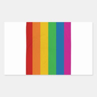Adesivo Retangular Orgulho de LGBT