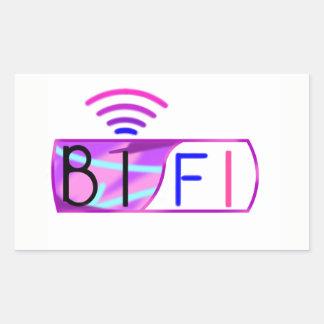 Adesivo Retangular Orgulho do Bisexual de Bifi