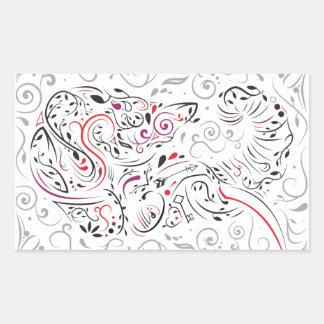 Adesivo Retangular ornamentado do elefante