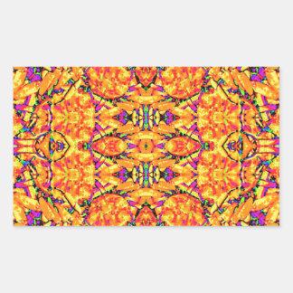 Adesivo Retangular Ornamentado vibrante colorido
