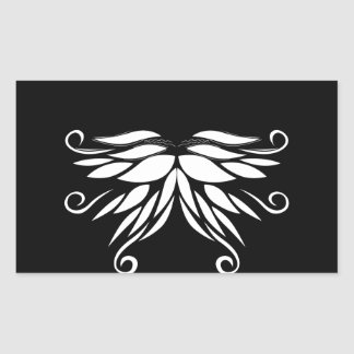 Adesivo Retangular Ornamento brancos pretos do Nordic de Sibéria