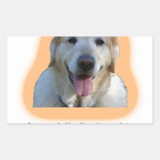 Adesivo Retangular Os cães são melhores do que seres humanos