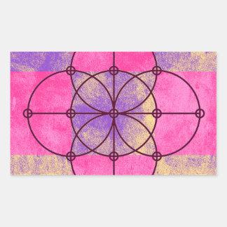 Adesivo Retangular Os cinco círculos sagrados