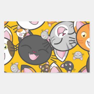 Adesivo Retangular Os gatos de riso