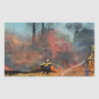 Adesivo Retangular Os sapadores-bombeiros são nossos heróis