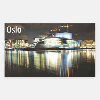 Adesivo Retangular Oslo, Noruega na noite