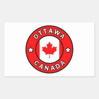 Adesivo Retangular Ottawa Canadá