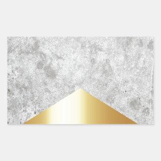 Adesivo Retangular Ouro concreto #372 da seta