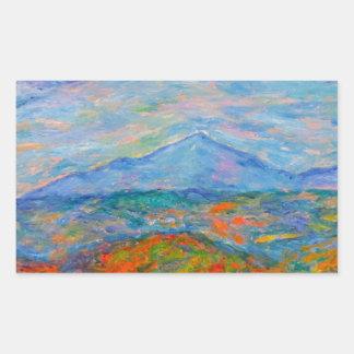 Adesivo Retangular Outono azul enevoado de Ridge