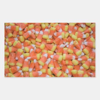 Adesivo Retangular Outono do milho de doces do Dia das Bruxas ou da
