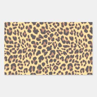 Adesivo Retangular Padrões da pele animal do impressão do leopardo
