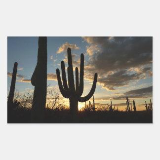 Adesivo Retangular Paisagem do deserto da arizona do por do sol II do