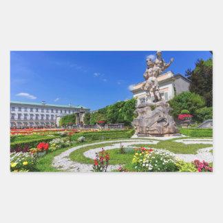 Adesivo Retangular Palácio de Mirabell e jardins, Salzburg, Áustria