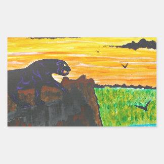 Adesivo Retangular Pantera no prowl