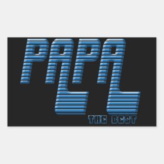 Adesivo Retangular Papa the best