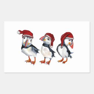 Adesivo Retangular Papagaio-do-mar do Natal