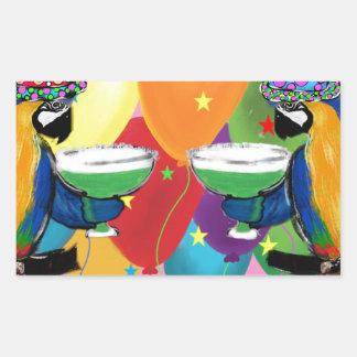 Adesivo Retangular Papagaios do partido
