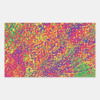 Adesivo Retangular Para o amor das cores - Psychadelic