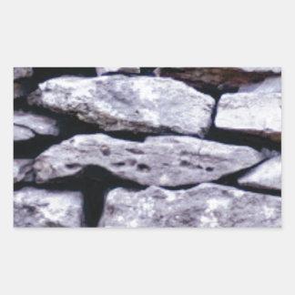 Adesivo Retangular parede empilhada da rocha