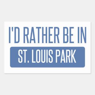 Adesivo Retangular Parque de St Louis