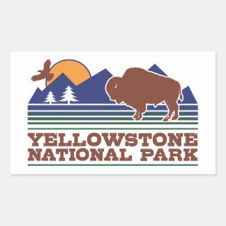 Adesivo Retangular Parque nacional de Yellowstone