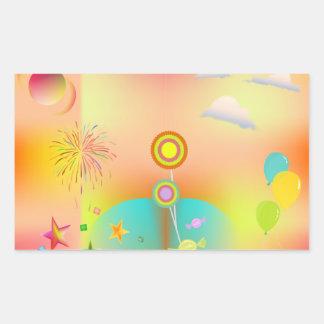Adesivo Retangular partido e cores